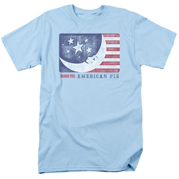 Moon Pie/American Pie Short Sleeve Adult T-Shirt 18/1 in Light Blue