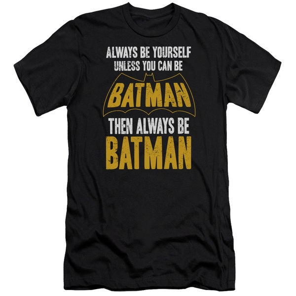 Batman/Be Batman Short Sleeve Adult T-Shirt 30/1 in Black