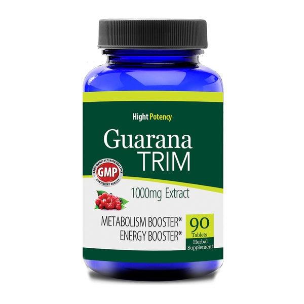 Guarana 1000-milligrams Trim Energizer (90 Capsules)