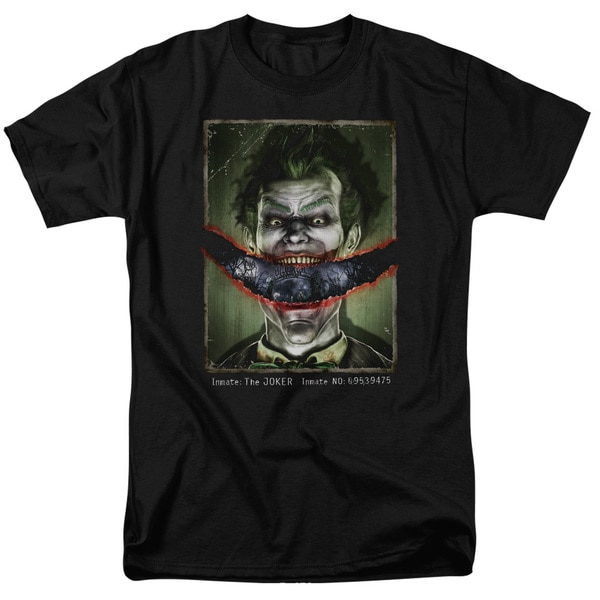 Batman Aa/Split Lip Short Sleeve Adult T-Shirt 18/1 in Black