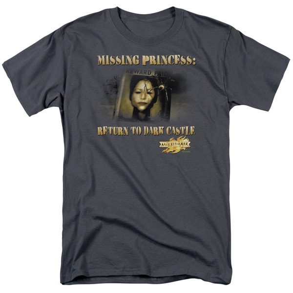 Mirrormask/Missing Princess Short Sleeve Adult T-Shirt 18/1 in Charcoal