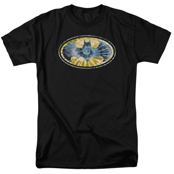 Batman/Tie Dye 3 Short Sleeve Adult T-Shirt 18/1 in Black