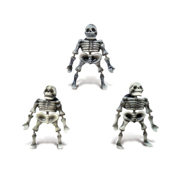 Human Skeleton Multicolor Plastic Bobble Magnet