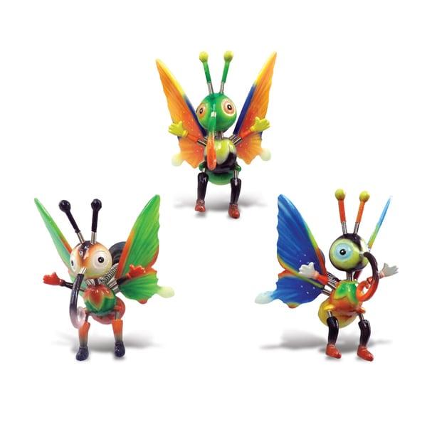Skipper Butterfly Bobble Magnets (Set of 3)