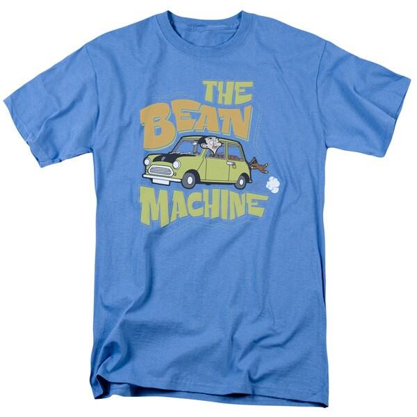 Mr Bean/Bean Machine Short Sleeve Adult T-Shirt 18/1 in Carolina Blue
