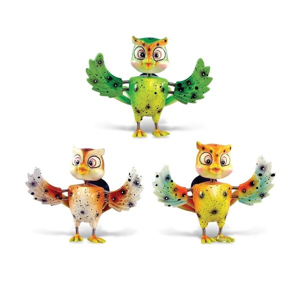 Puzzled Owl Bobble Magnets (Pack of 3)
