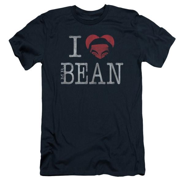 Mr Bean/I Heart Mr Bean Short Sleeve Adult T-Shirt 30/1 in Navy