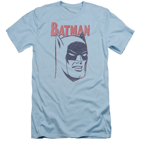 Batman/Crayon Man Short Sleeve Adult T-Shirt 30/1 in Light Blue