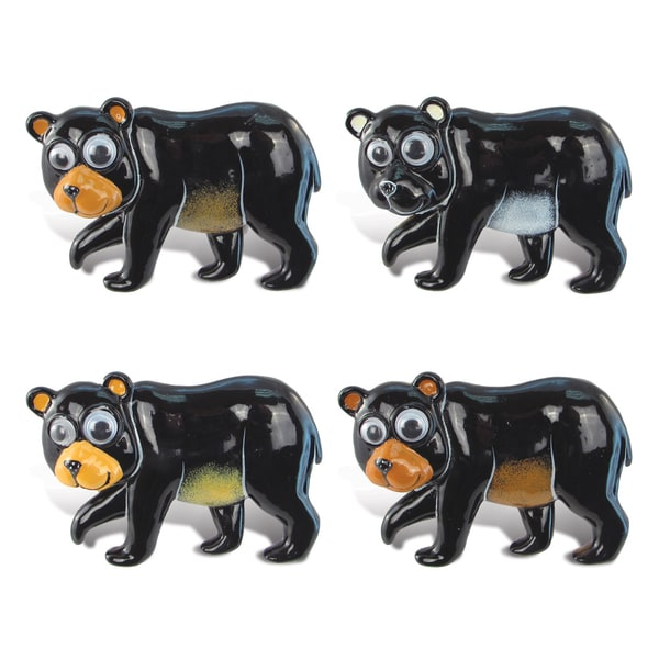 Black Bear Bobble-Eye Magnet