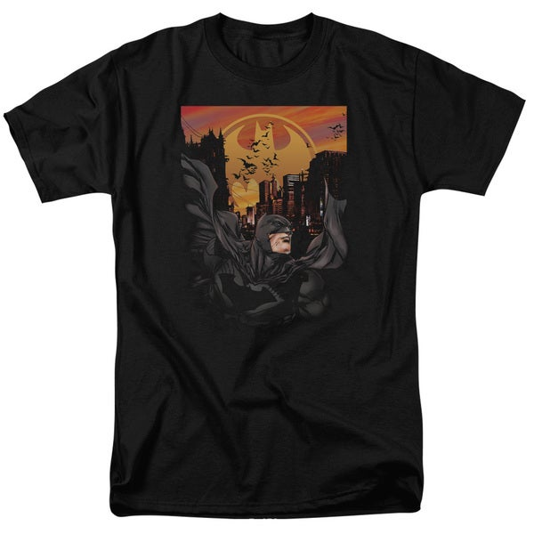 Batman/Always On Call Short Sleeve Adult T-Shirt 18/1 in Black