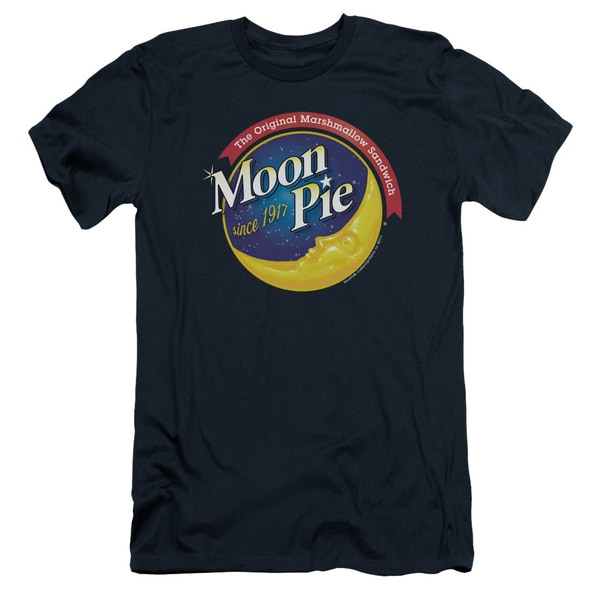Moon Pie/Current Logo Short Sleeve Adult T-Shirt 30/1 in Navy