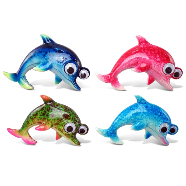 Dolphin Bobble-eye Magnets (Set of 4)