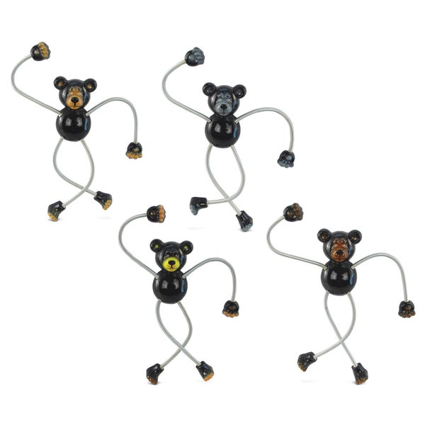 Black Bear Springy Magnet