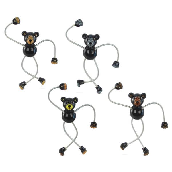 Black Bear Springy Magnet