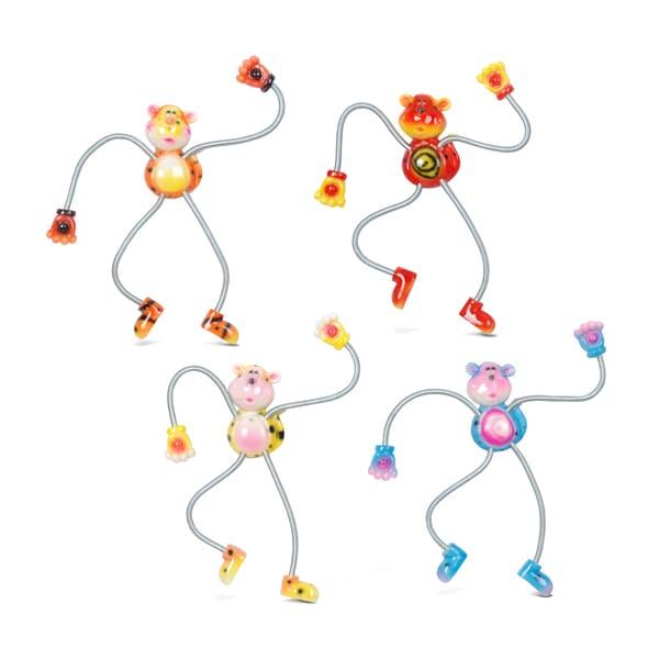 Puzzled Springy Monkey Magnet (Set of 4)