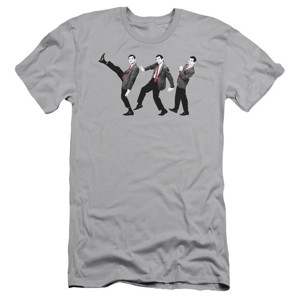 Mr Bean/Walk Like A Bean Short Sleeve Adult T-Shirt 30/1 in Silver