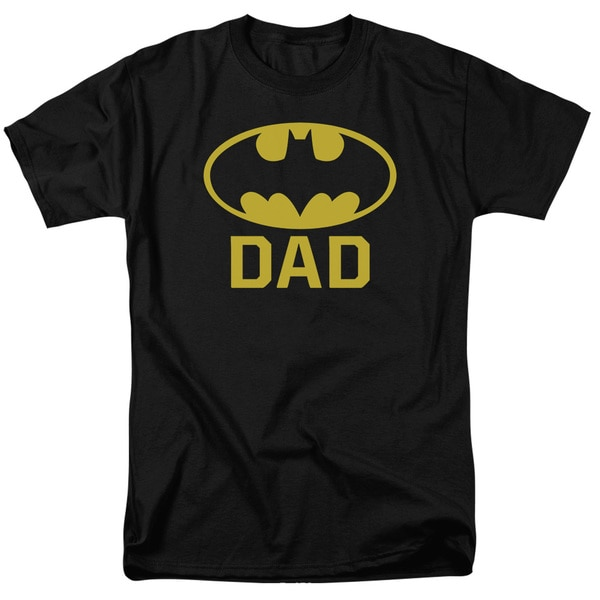 Batman/Bat Dad Short Sleeve Adult T-Shirt 18/1 in Black