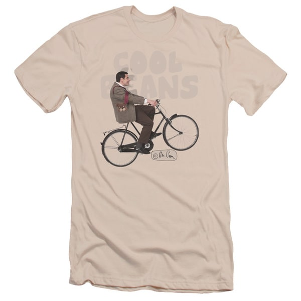 Mr Bean/Cool Beans Short Sleeve Adult T-Shirt 30/1 in Cream