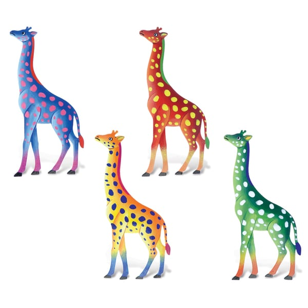 Puzzled Giraffe Metal Bobble Magnets (Pack of 4) 20135474