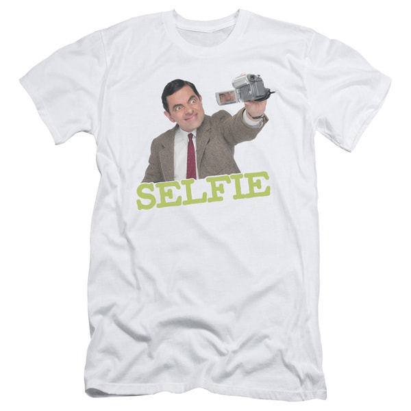 Mr Bean/Selfie Short Sleeve Adult T-Shirt 30/1 in White