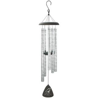 Carson Home Accents 'Heavenly Bells' Silver Aluminum 44-inch Sonnet Wind Chime