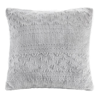Madison Park Annabel Textured Plush 20-inch Square Pillow 4-Color Options