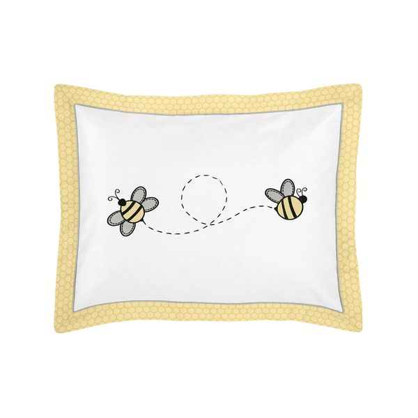 Honey Bee Collection Standard Pillow Sham by Sweet Jojo Designs