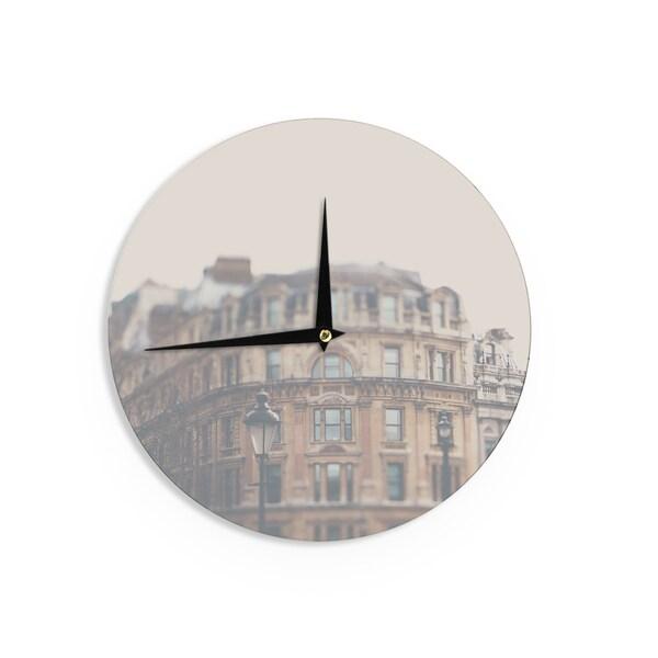 KESS InHouse Laura Evans 'London Town' Brown Wall Clock