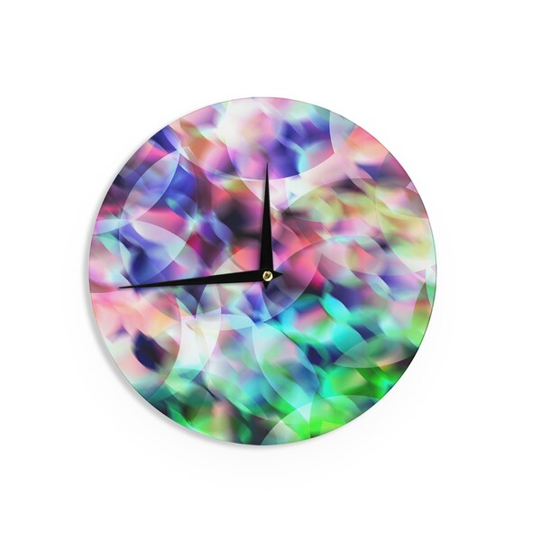 KESS InHouseGabriela Fuente 'Party' Pastel Abstract Wall Clock