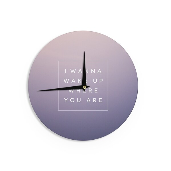KESS InHouseGalaxy Eyes 'Wake Up' Wall Clock