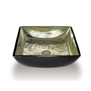 Legion Furniture Transluscent Gold Glass Bathroom Vessel Bowl