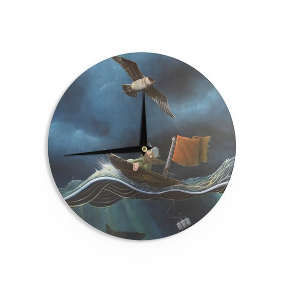 KESS InHouseGraham Curran 'Savages' Wall Clock