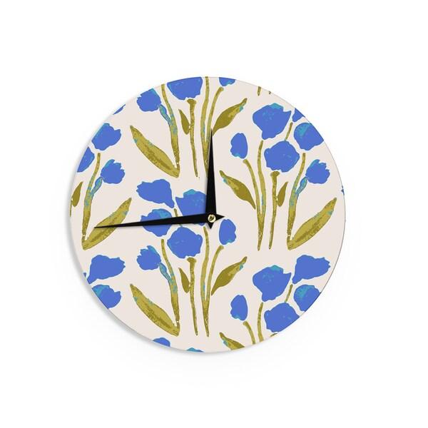 KESS InHouseGukuuki 'Shirley Gem' Blue Green Wall Clock