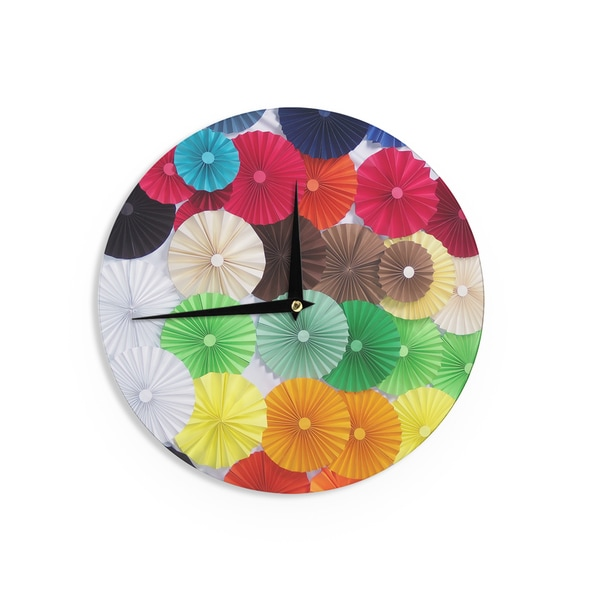 KESS InHouseHeidi Jennings 'Adored' Colored Circles Wall Clock