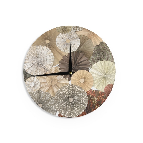 KESS InHouseHeidi Jennings 'Dusty Road' Brown Tan Wall Clock