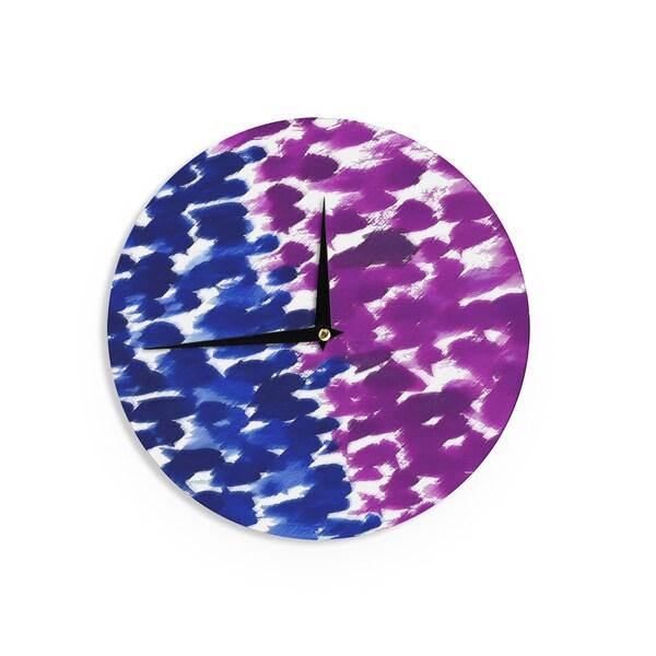 KESS InHouse Emine Ortega 'Fleeting Blue' Wall Clock