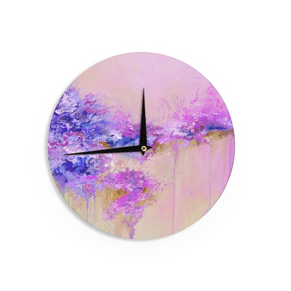 KESS InHouse Ebi Emporium 'When Land Met Sky 2' Purple Pink Wall Clock