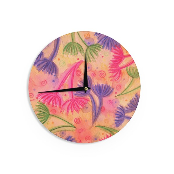 KESS InHouse Ebi Emporium 'Cow Parsley' Wall Clock