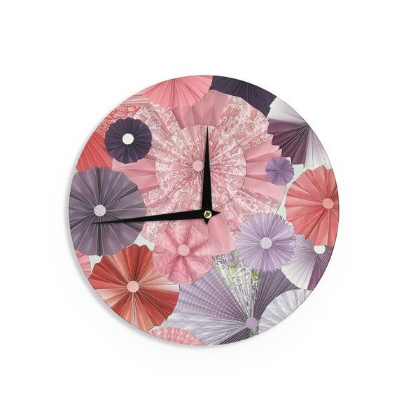 KESS InHouseHeidi Jennings 'The Royal Court' Pink Purple Wall Clock