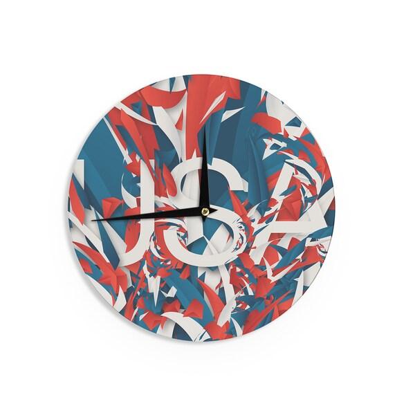 KESS InHouse Danny Ivan 'USA' World Cup Wall Clock