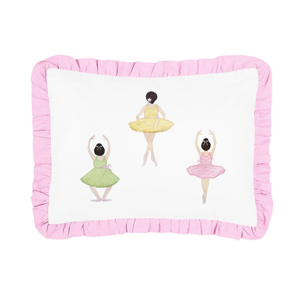 Ballerina Collection Standard Pillow Sham by Sweet Jojo Designs