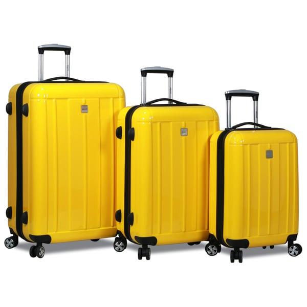 Dejuno Contour 3-piece Hardside Spinner TSA Combination Lock Luggage Set