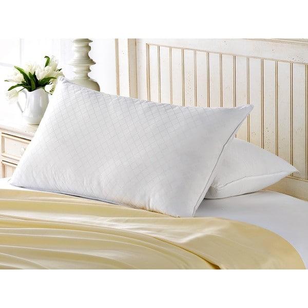 Exquisite Hotel Diamond Jacquard Memory Fiber Pillow (Set of 2)