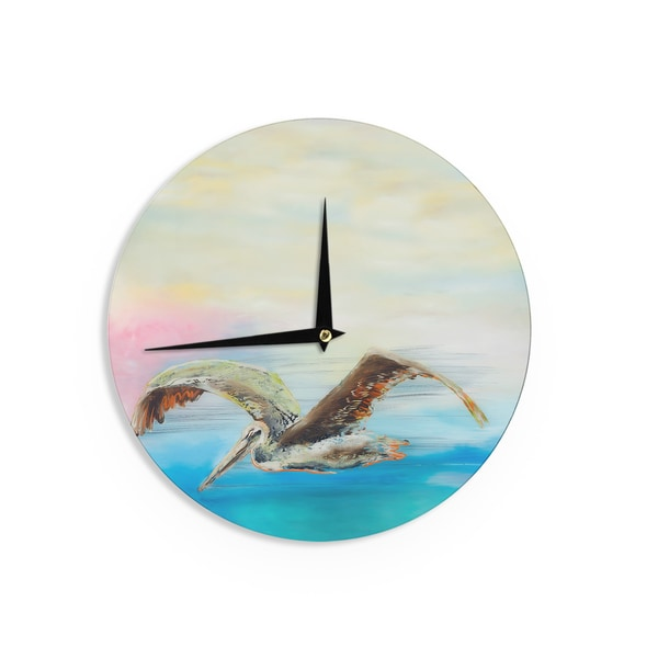 KESS InHouseJosh Serafin 'Coast' Ocean Bird Wall Clock