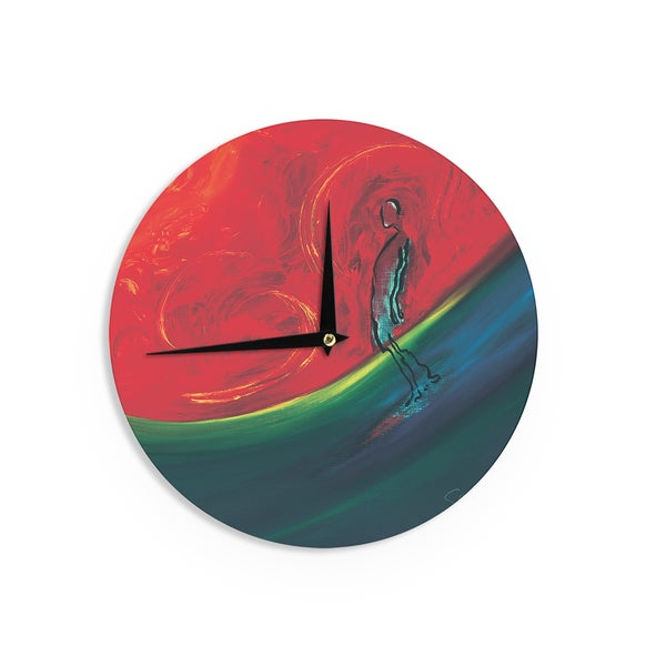 KESS InHouseJosh Serafin 'Glide' Red Blue Wall Clock