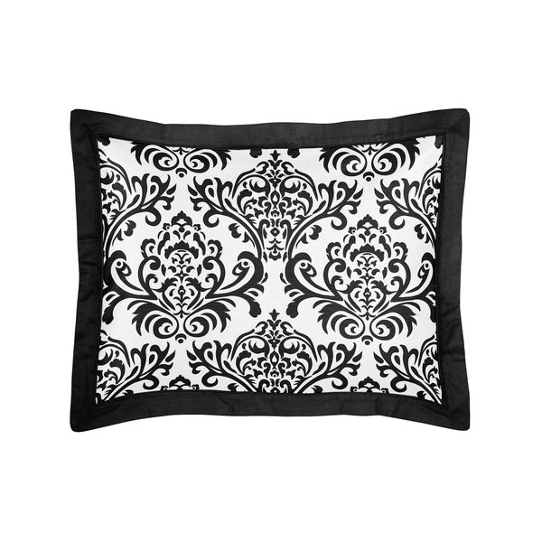 Sweet Jojo Designs Black and White Isabella Collection Standard Pillow Sham 20137810