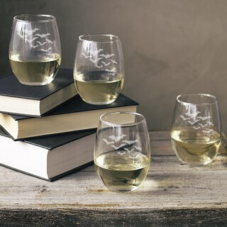 Colony of Bats 21-ounce Stemless Wine Glasses (Pack of 4)