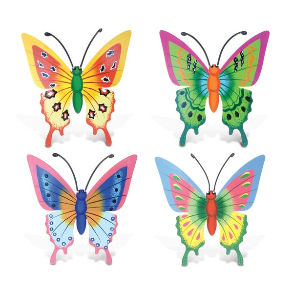 Butterfly Bobble Metal Magnet (Set of 4)