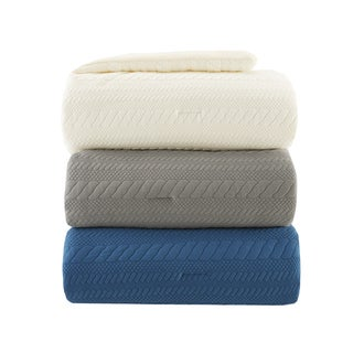 Madison Park Elina Matelasse Down Alternative Throw 3-Color Options