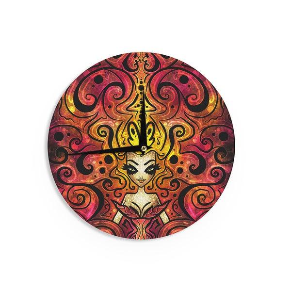 KESS InHouse Mandie Manzano 'She Devil Full' Wall Clock